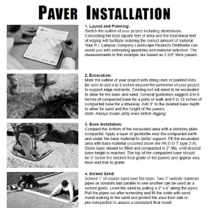 Paver Install Guide